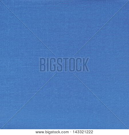 Natural Bright Blue Fiber Linen Cloth Book Binding Texture Pattern, Large Detailed Macro Closeup, Textured Vintage Fabric Burlap Canvas Background, Blank Empty Horizontal Copy Space