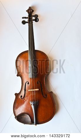 Old violin. Old violin copy of Majini made Saxony in the 19th century.