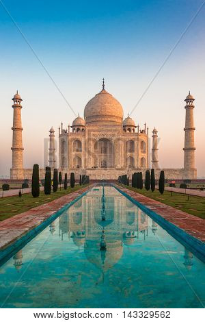 Highly detailed image of Taj Mahal Agra India