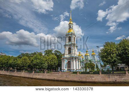 Nikolsky Marine Sobor (st.nicholas Cathedral), St.petersburg, Russia
