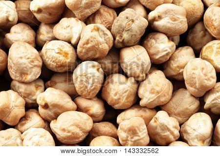 An extreme macro image of dried chick peas