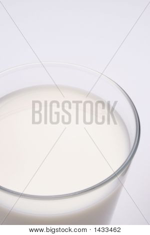 Glass Of Milk With Copy Space