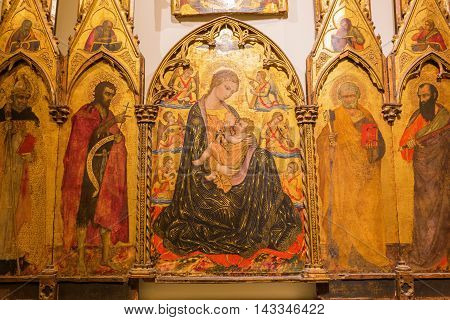 Historic Painting In The Museum Of The Siena Cathedral