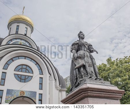 Rostov-on-Don Russia -August 142016: Monument to Empress Elizabeth. Sculptors: S.Oleshnya A.Dementev