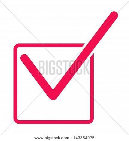 Check mark icon, Red check box with check mark