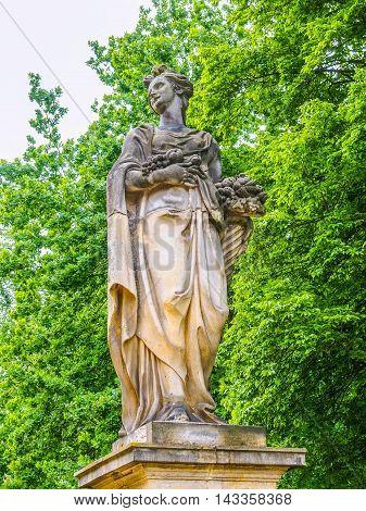 Statue In Park Sanssouci Potsdam Hdr