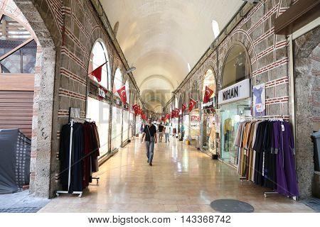 Bakircilar Bazaar In Kapalicarsi In Bursa City, Turkey