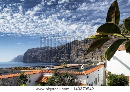 los gigantes cliffs famous landmark and village in south tenerife island spain