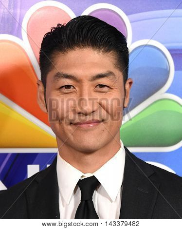 LOS ANGELES - AUG 02:  Brian Tee arrives to the NBC Universal TCA Summer Press Tour 2016 on August 02, 2016 in Beverly Hills, CA
