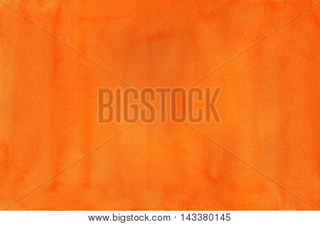 Abstract Orange Watercolor Background