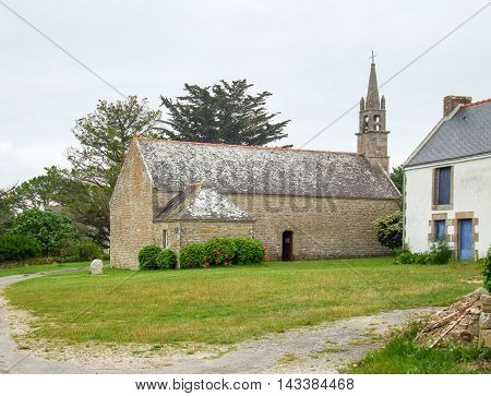 Chapel of Our Lady of Flowers in Plouharnel a commune in the Morbihane department of Brittany in France
