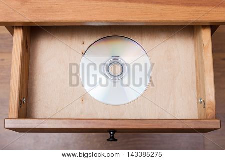 Cd Disk In Open Drawer