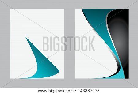 Abstract vector modern flyer brochure design templates. Vector