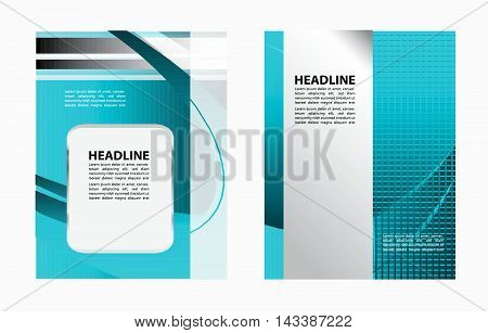 flyer, brochure or magazine cover vector template