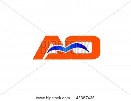 AO initial company group logo designt template