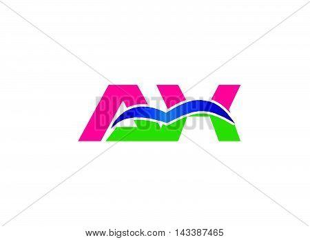 Elegant black and gold alphabet A and K letter logo. Vector illustration
