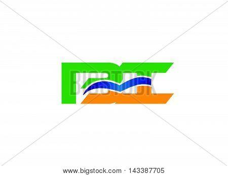 Pi initial monogram logo design vecor template