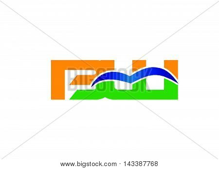 BW company linked letter logo design template