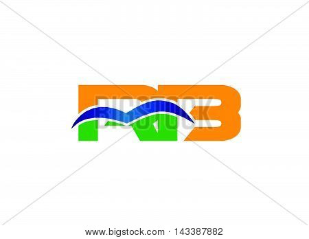 RB company group linked letter logo template