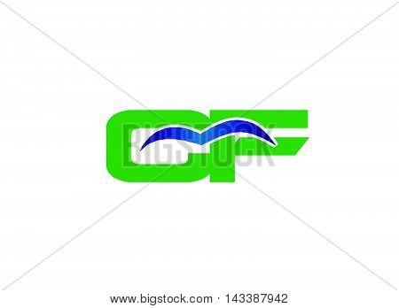 FC company linked letter logo design template