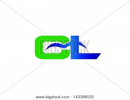 Letter L and C logo vector design