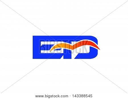 ED Logo. ED company linked letter logo