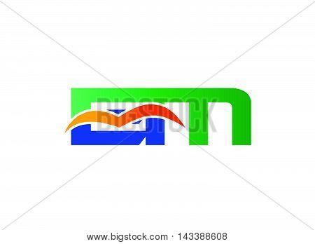EM Logo. EM company linked letter logo