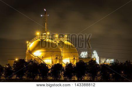 LPG gas industrial storage sphere tanks, Thailand