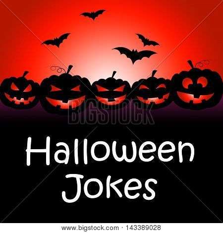 Halloween Jokes Showing Hilarious And Funny Gags poster