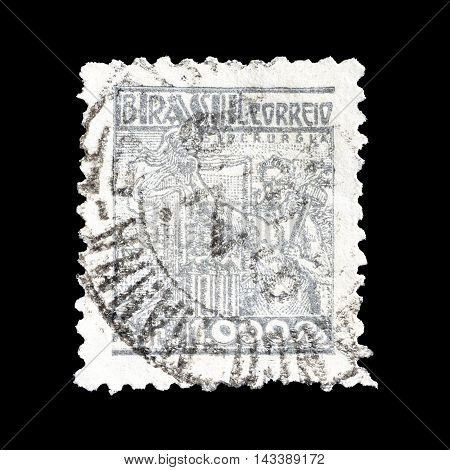 BRASIL - CIRCA 1941 : Cancelled postage stamp printed by Brasil, that shows Steel industry.