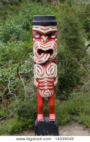 Maori carving at Rotorua, New Zealand