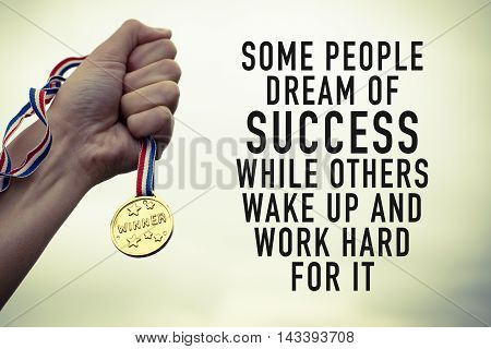Motivation and success concept with motivational quote