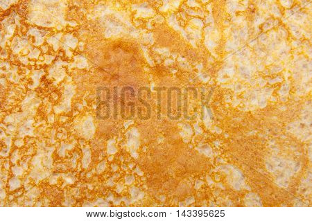 Close up of pancake textured surface background