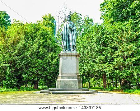 Schiller Statue In Frankfurt Hdr