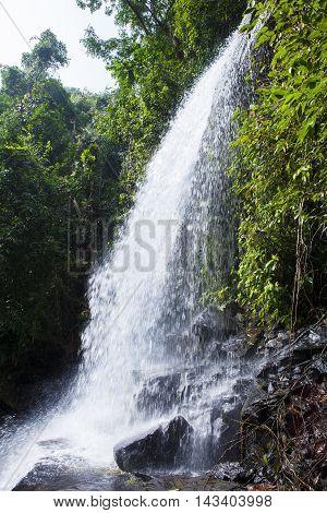 THE HUANG NUM KEAW WATERFALL KOH KOOD TRAT THAILAND.