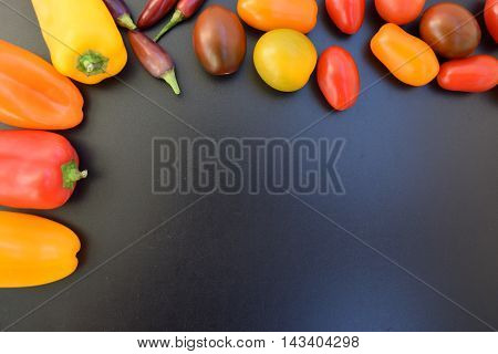 Fresh vegetables background place for text. Healthy eating concept. Ripe vegetables. Fresh vegetables.