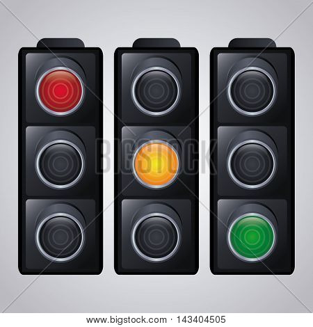 semaphore trafficlight sign warning road street icon. Colorful and isolated design. Vector illustration