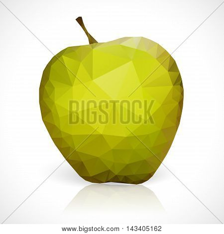 Geometric triangles pattern of apple vector mosaic