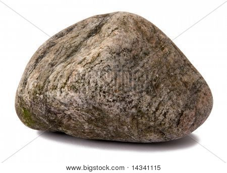 Grungy rock isolated on white
