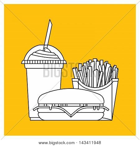 Fast food set. Vector fast food restaurant. Isolated fast food logo. Flat fast food icons set. Vector fast food snakes.