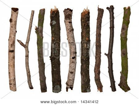 Sticks isolated on white