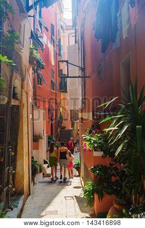 Alley In Vernazza, Cinque Terre, Italy
