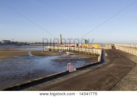 a seaside view of Margate harbour in Kent England