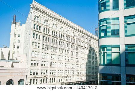 Exterior of buildings in San Francisco CA