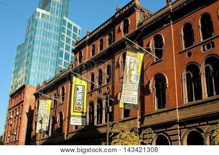 New York City - November 12 2005: Italianate Renaissance Joseph Papp Public Theatre on Lafayette Street in lower Manhattan