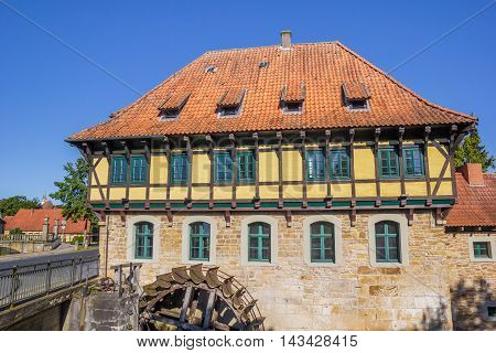 Half Timbered Watermill Building In Steinfurt