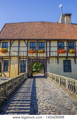 Bridge Leading To The Gatehouse Of The Steinfurt Castle