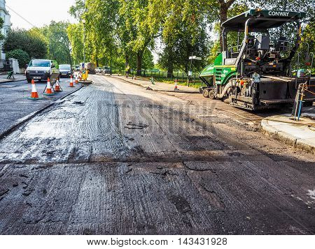 Road Paving In London (hdr)
