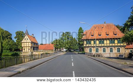 Castle And Watermill In The Historical Center Of Steinfurt