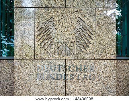Deutscher Bundestag Eagle In Berlin (hdr)